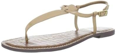 Sam Edelman Women's Gigi Thong Sandal,Almond Patent,5 M US