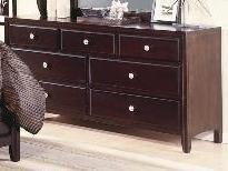 Dark Brown Finish Dresser