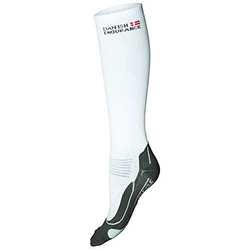 DANISH ENDURANCE Compression Socks // (US 7.5-9.5, White/Grey)
