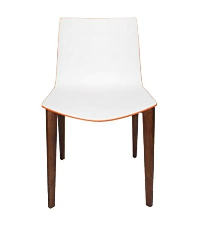 Macer Home Catifa Side Chair, White/Orange