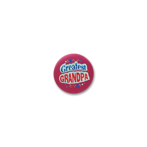 "Greatest Grandpa Satin Button 2"" Party Accessory"
