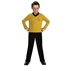 Star Trek Classic Gold Kids Costume , Medium 8/10