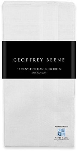 Geoffrey Beene 13 Pack 100% Cotton White