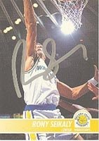 Rony Seikaly Golden State Warriors 1994 Hoops Autographed Hand Signed Trading Card -... by Hall of Fame Memorabilia