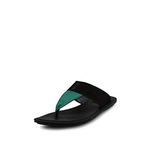 Get Glamr Get Glamr Men's Green Leather Moure Flats