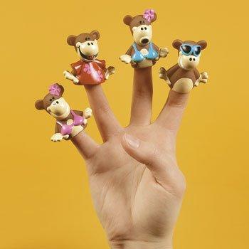 24 Beach Monkey Finger Puppets Summer Pretend Play Show Kids TOY