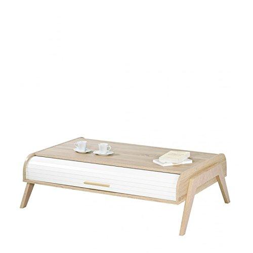 Table basse - Table Basse Vintage 119 cm Chêne/Blanc