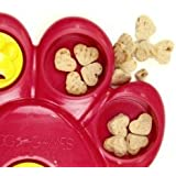 Outward Hound 41004 Paw Hide Treat Toy Dog Toys Scent Puzzle Training Toy, Large, Red