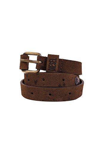DIESEL - Cintura in cuoio BOT - marrone, Taglia unica