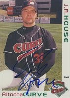 J.R. House Altoona Curve - Pirates Affiliate 2002 Grandstand Autographed Hand Signed... by Hall of Fame Memorabilia