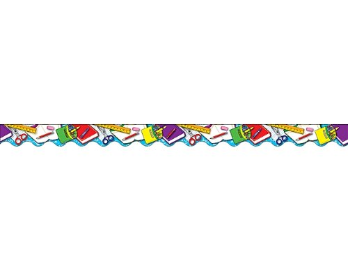Teacher Created Resources School Tools Border Trim, Multi Color (4126)