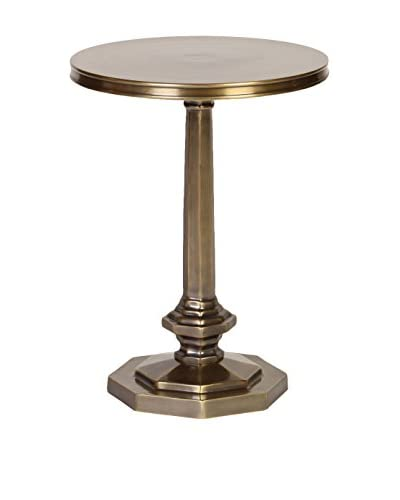 Prima Design Source Accent Table with an Octagonal Base, Brass