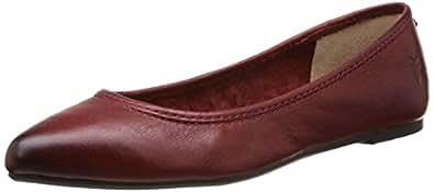 FRYE Women's Regina Ballet Flat, Burnt Red Soft Vintage Leather, 5.5 M US