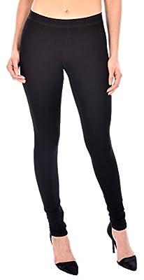 HKR Collections Women's Basic Cotton Full Length Skinny Leggings
