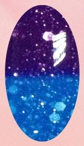 Bluesky Shellac Colour Changing chameleon UV/LED Gel 024 glitter purple to glitter blue. full shimmer / diamond