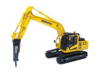 komatsu-pc210-lc-excavator-with-hammer-diecast-model-excavator-by-universal-hobbies
