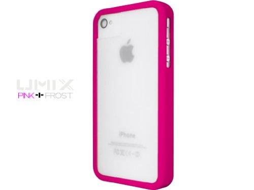 iPhone 4S / 4 Novoskins UmiX Pink Rosa Bumper e Matt Trasparente Dual Piece Hard Case (Buy Any UMIX Case and Get 1 RANDOM Colour Case Free)