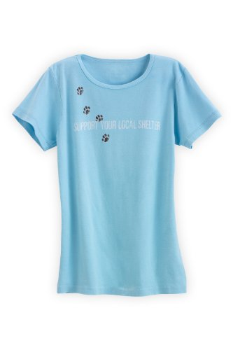 Green 3 Apparel Support Your Local Cat Shelter Organic Made In Usa Tee (S, Light Blue)