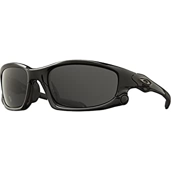 Oakley Split Jacket Sunglasses Polished Black W/ Grey, One Size
