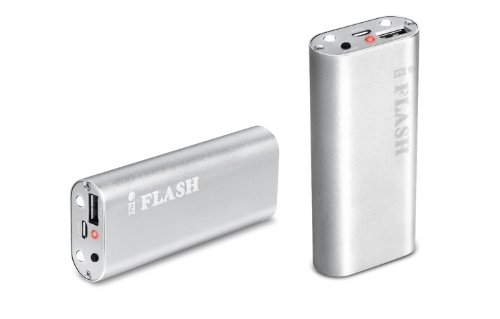 Iflash® 5000Mah Aluminum Housing Slim External Battery Charger With Built-In Flashlight For Iphone 5, All Iphone, Ipad, Ipod Models; Android Smartphones: Samsung Galaxy S3 S Iii I9300, Galaxy S2 S Ii I9100, Galaxy Nexus, Galaxy Note / Htc Sensation, One X