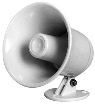 "Speco Spc-5P 5"" Pa Speaker Horn W/ Plastic Base - 8 Ohm"
