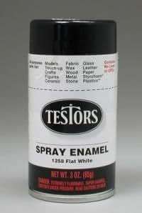 com flat white spray testors enamel plastic model paint toys games. Black Bedroom Furniture Sets. Home Design Ideas