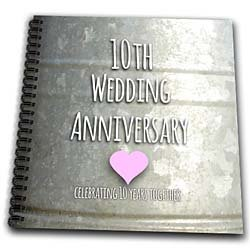 Wedding Anniversary Gift Ideas 10 Years : Occasions - 10th Wedding Anniversary gift - Tin celebrating 10 years ...