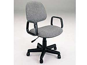 Gray Fabric Office Secretary Swivel Chair W/Casters & Pneumatic Lift