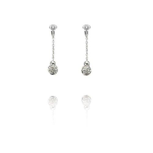 Fiorelli Glass Encrusted Ball Clip On Earrings