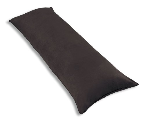 Best Price Newpoint International Inc. Microsuede Body Pillow Cover With Double Sided Zippers, Choco...