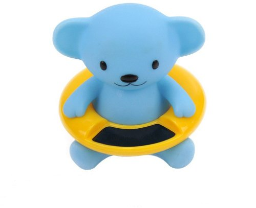 Andget Cartoon Bear Toy Baby Bath Thermometer LCD Screen