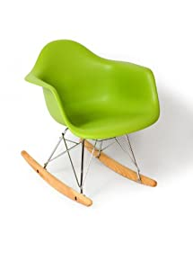 Kids Eames Style Rocking Chair, Green from Control Brand