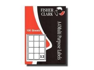 Etiquettes Adresses Imprimante Pk100 A4 12 par feuille Compatible Avery L7164