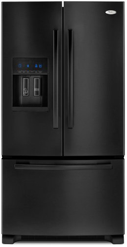 Whirlpool GI6FARXXB Gold 25.5 Cu. Ft. Black French Door Refrigerator - Energy Star