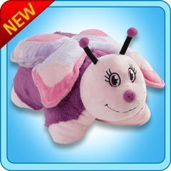 "Pee Wee Genuine Pillow Pet Purple BUTTERFLY Small 11"" - 1"