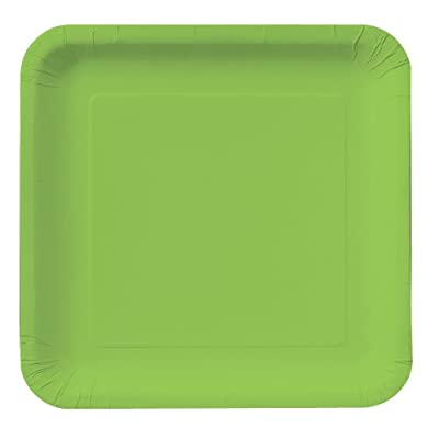 Creative Converting Touch of Color 18 Count Square Paper Lunch Plates, Fresh Lime from Creative Converting