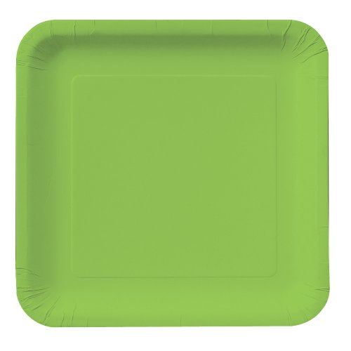 Buy Creative Converting Touch of Color 18 Count Square Paper Lunch Plates, Fresh Lime
