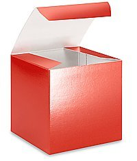 6in. X 6in. X 4in. Red Gift Boxes - Pack of 5 - 1