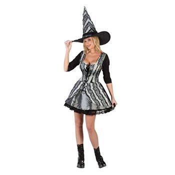 Witch Goth Rose Costume - Medium/Large - Dress Size 10-14