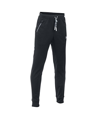Under Armour Boys' Pennant Tapered Pants, Black (001), Youth Small