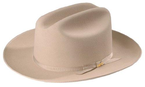 29cd8c5f50e44 Stetson Men s 6X Open Road Fur Felt Cowboy Hat Silverbelly 7 1 2 ...