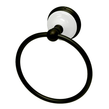 Kingston Brass Ba1114Orb Victorian Towel Ring, Oil Rubbed Bronze