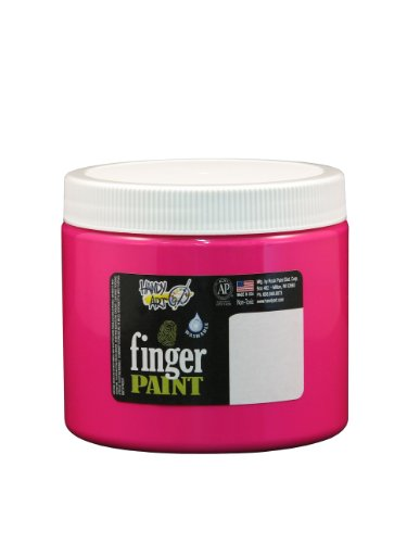 Handy Art by Rock Paint 241-155 Washable Finger Paint, 1, Fluorescent Magenta, 16-Ounce - 1