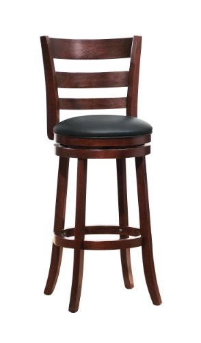 Homelegance 1144E-29S Swivel Pub Height Chair/Stool, Dark Cherry front-1000398