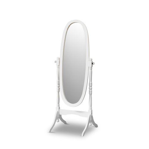Poundex Victoria Floor Mirror White