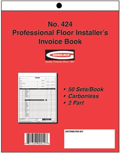 Professional Floor Installer's Invoice Book