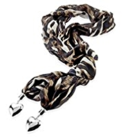 Per Una Animal Print Scarf Necklace
