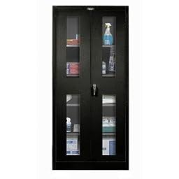 400 Series 2 Door Storage Cabinet Color: Midnight Ebony