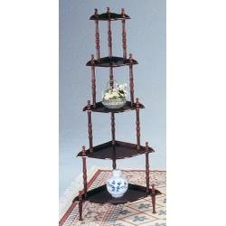 Acme 02282 Chace 5-Tier Corner Rack, Cherry Finish
