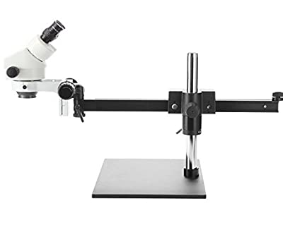 GOWE Professional 7X-45X SINGLE BOOM Guide STAND 25cm Working Distance Binocular Stereo Zoom Microscope